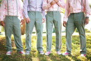 They say real men wear pink...and your def. a real man if you step up to the plate of marriage!